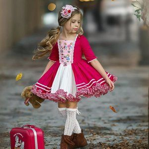 Dollcake My Dolly Print & Lace Dress